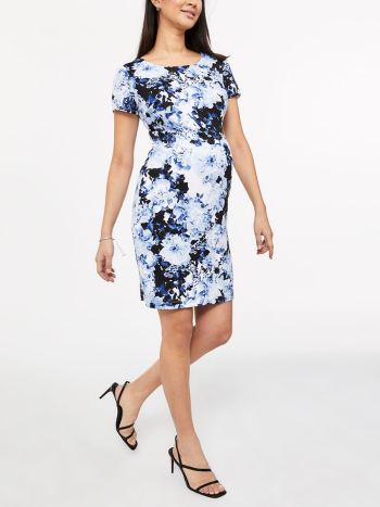 Stork & Babe - Printed Cap Sleeve Maternity Dress