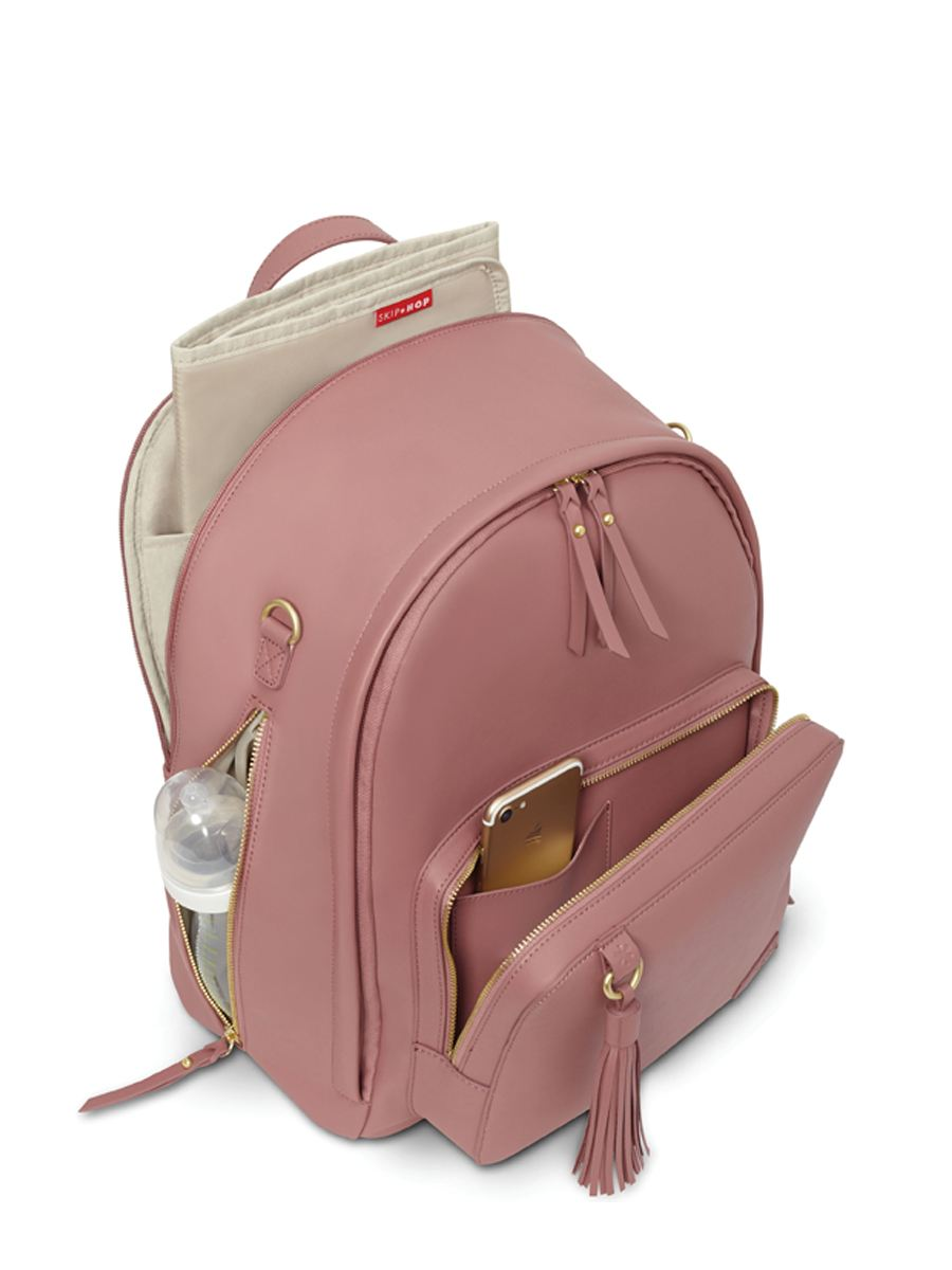 Skip Hop - Greenwich Pink Backpack Diaper Bag