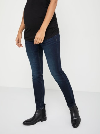 Petite - Ultra-Dark Regular Fit Skinny Leg Maternity Jean
