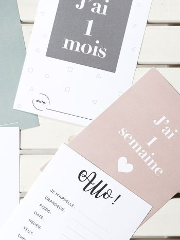 Parcelles & Co - Baby Milestone Cards