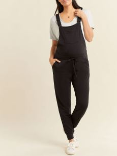 Black Maternity Overall