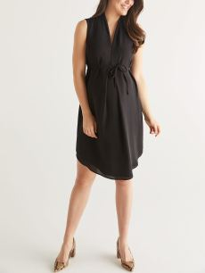 Stork & Babe - Maternity Dress with Pleats