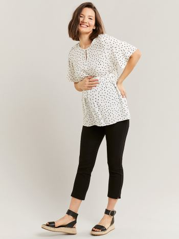 Black Skinny Maternity Cropped Pant
