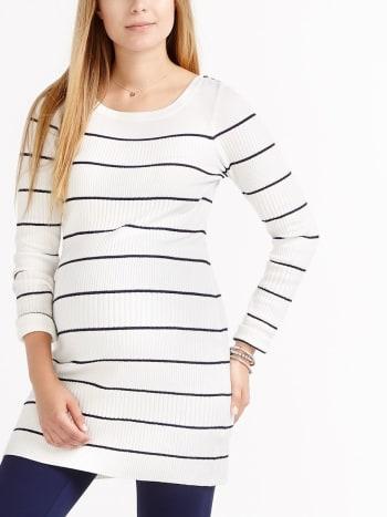 Stork & Babe - Striped Maternity Sweater
