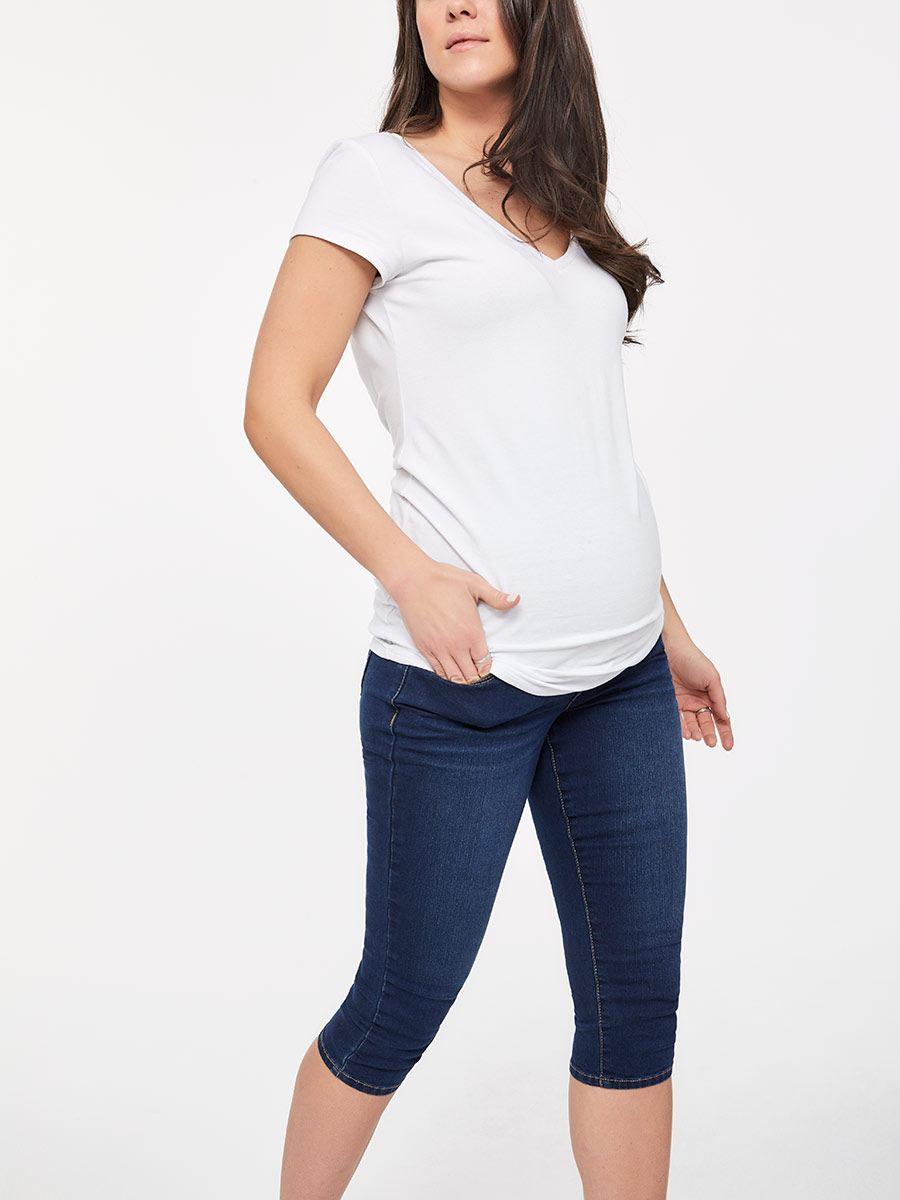 e95c3253e29fd Dark Maternity Jean Capri | Thyme Maternity