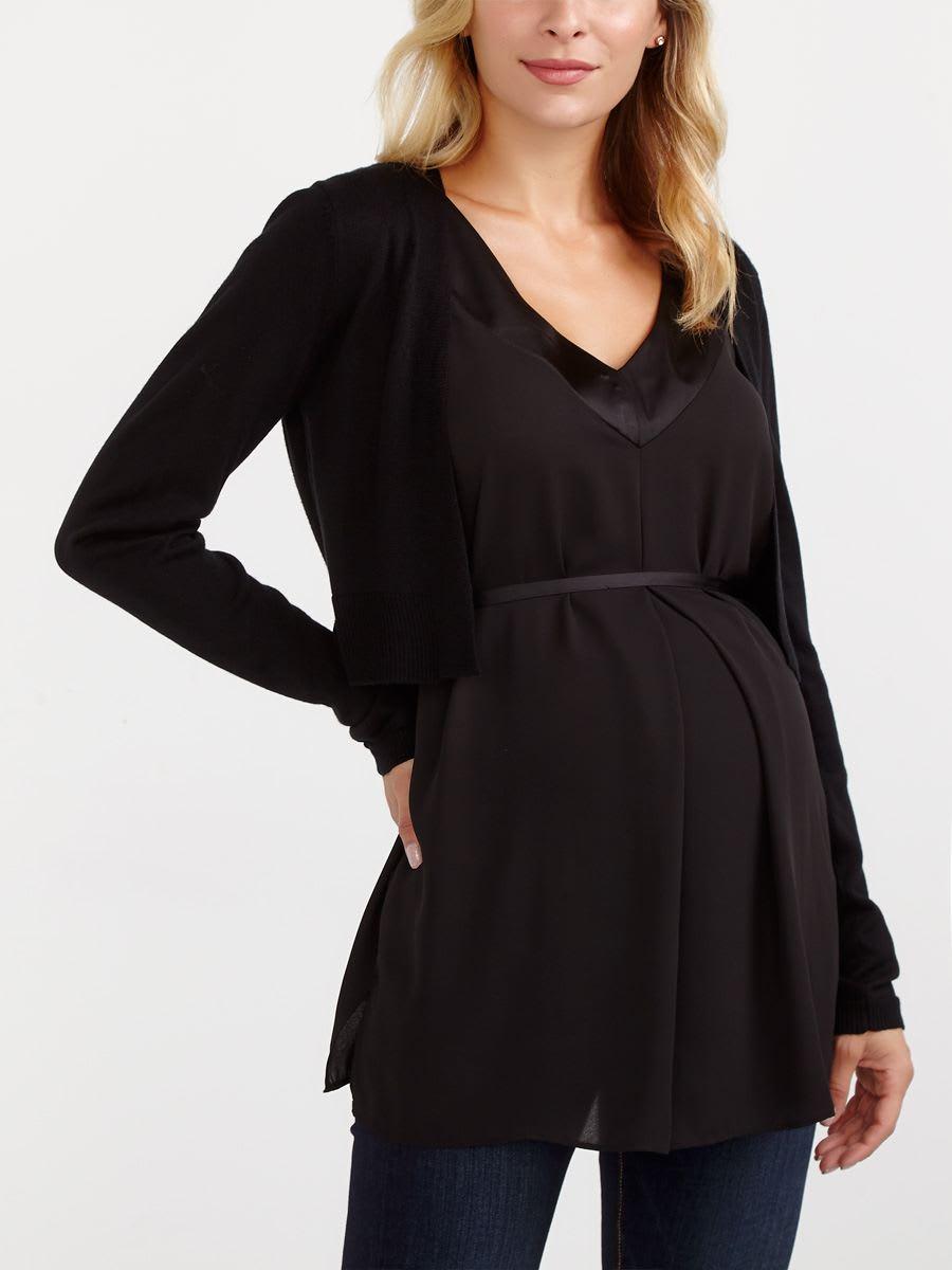 b59e4e4efd5ce Stork & Babe - Cropped Maternity Cardigan | Thyme Maternity