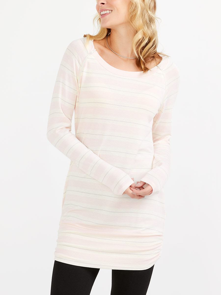Striped Knit Nursing Tunic