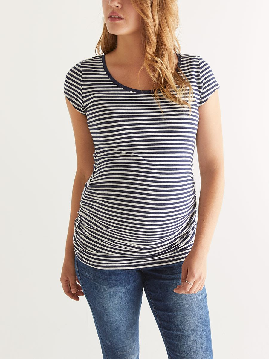 Ruched Scoop Neck Maternity Top