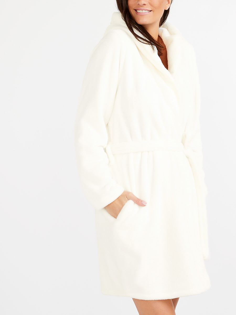 Plush Maternity Robe