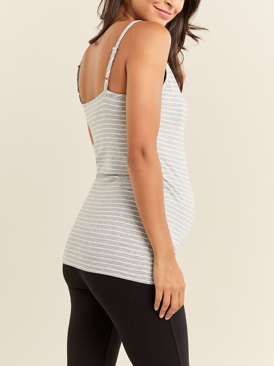 Striped Nursing Cami