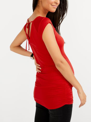 Stork & Babe - Maternity Top with Patterned Mesh