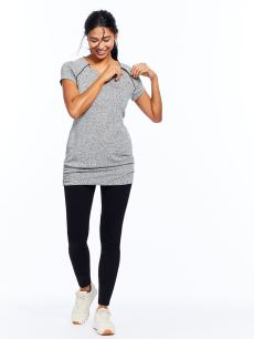 Nursing & Maternity Tunic with Shirring at Sides