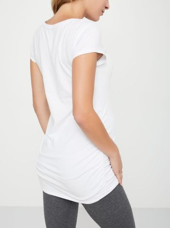 Ruched Cotton Maternity T-Shirt