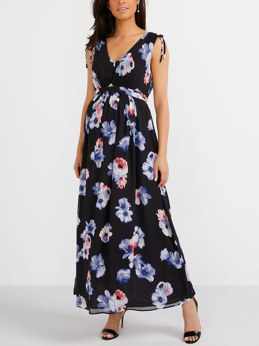 18b3e0662ec53 Stork & Babe - Floral Maternity Maxi Dress   Thyme Maternity