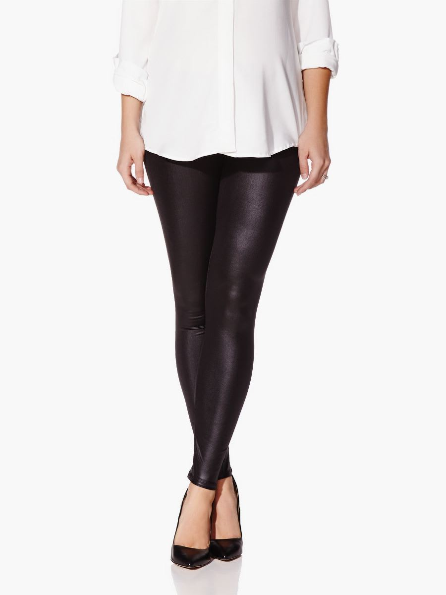 c08d13381491c Faux-Leather Maternity Legging | Thyme Maternity