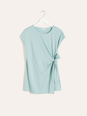 Maternity T-Shirt with Tie at Waist