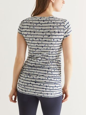 Printed Maternity T-shirt with Pocket