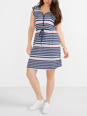 Striped Nursing Dress