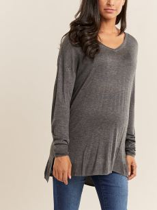 V-Neck Maternity Sweater