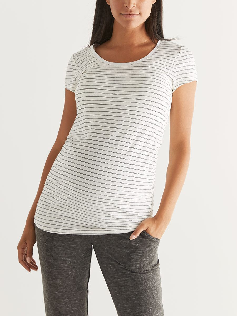 Short Sleeve Scoop-Neck Maternity Top