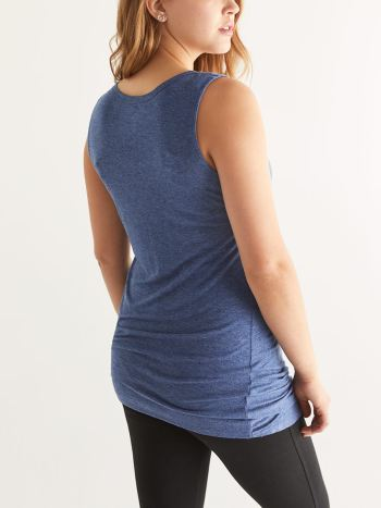 Sleeveless Twist Front Maternity Top