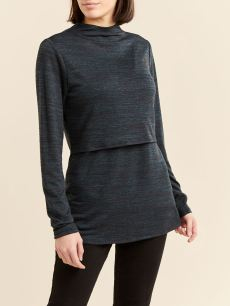 Long Sleeve Mock Neck Nursing Top