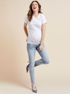 Light Blue Skinny Maternity Jean