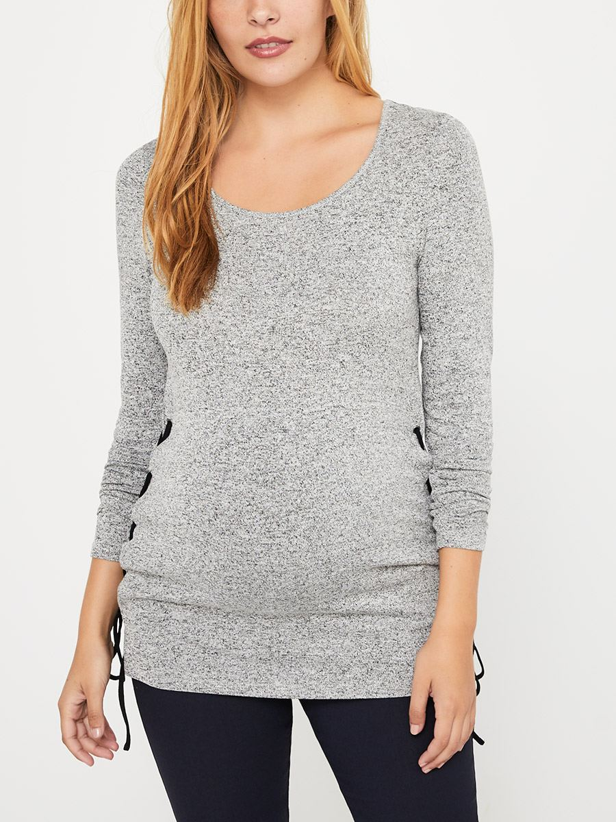 4c8c3cc99d56c Stork & Babe - Maternity Top with Lace-Up   Thyme Maternity