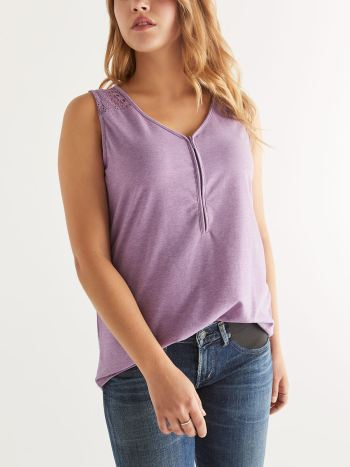 Zip Front Nursing Top