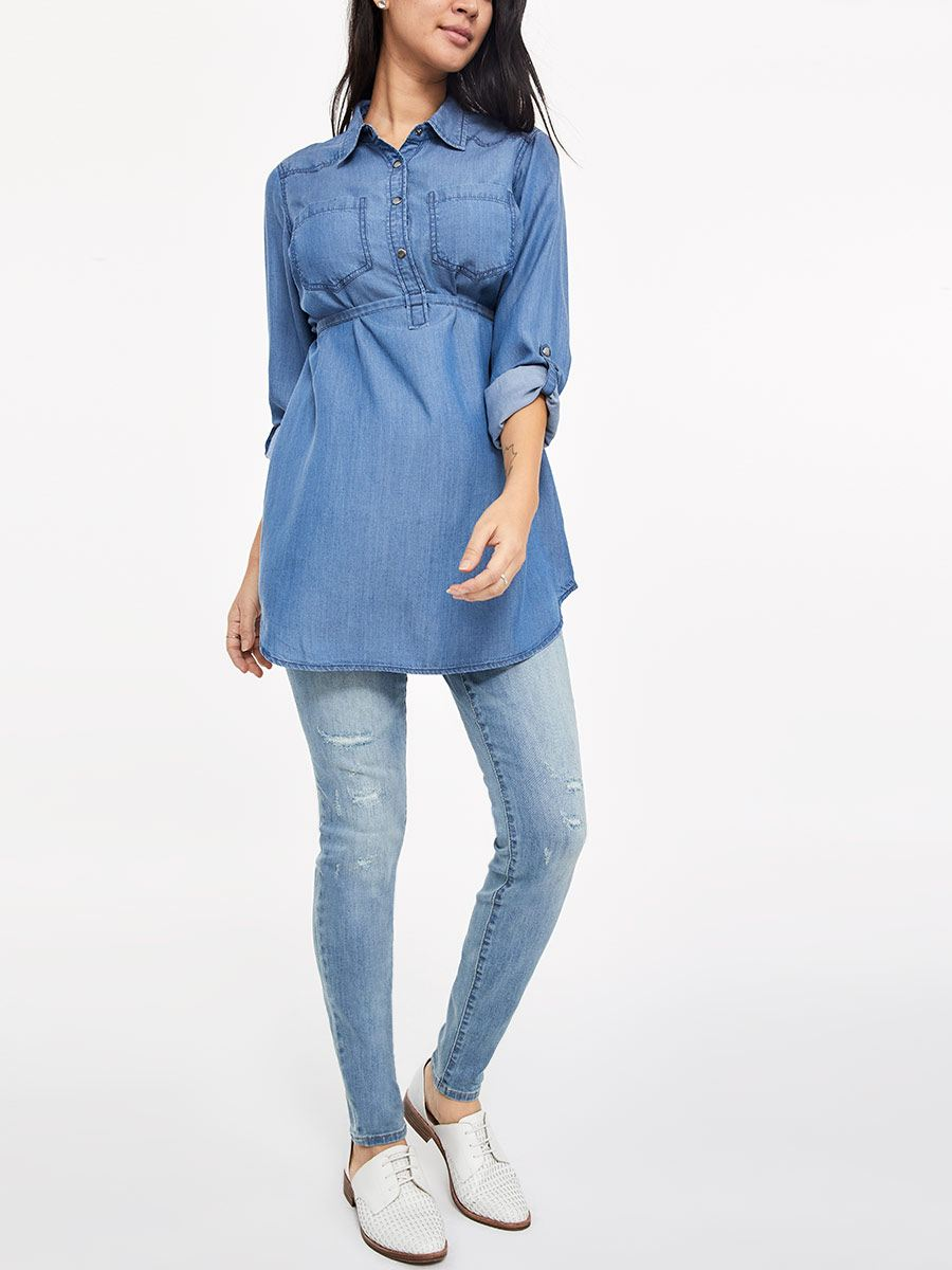 Blouse de maternité en tencel