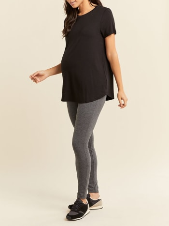 Solid Short Sleeve Maternity Top