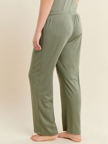 Ribbed Wide Leg Pajama Pant