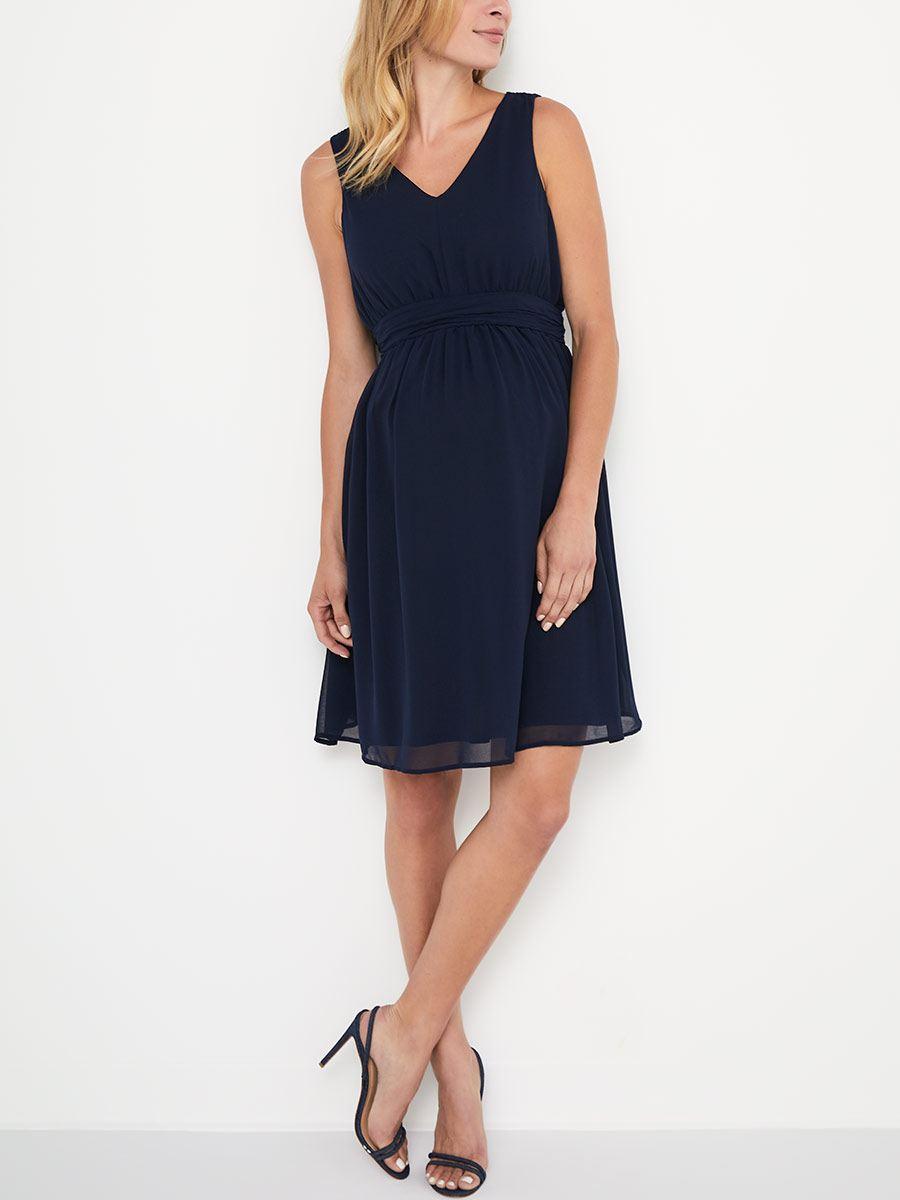 2a0ebef62aa Stork   Babe - Solid Sleeveless Maternity Dress