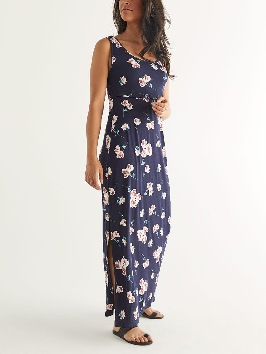 Sleeveless Nursing Maxi Dress