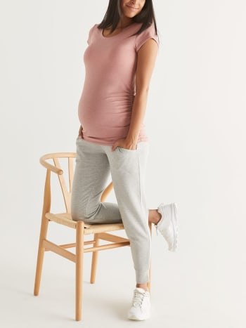 Scoop Neck Maternity Top