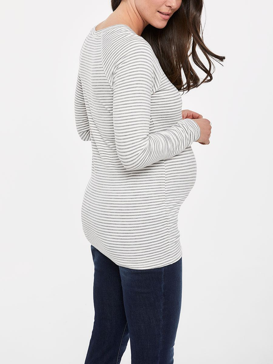 Striped Long Sleeve Maternity Tunic