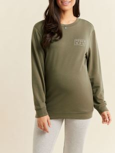 Long Sleeve Maternity Sweatshirt