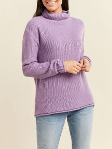 Long Sleeve Funnel-Neck Nursing Sweater