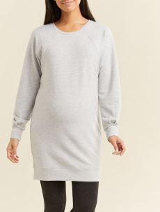 Long Sleeve Crew-Neck Nursing & Maternity Tunic