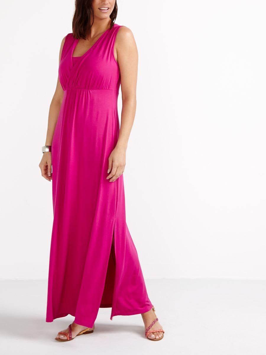 Sleeveless Nursing Maxi Dress Thyme Maternity Nurse Kit Standart