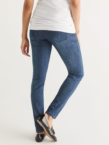 Medium Blue Skinny Maternity Jean - Petite