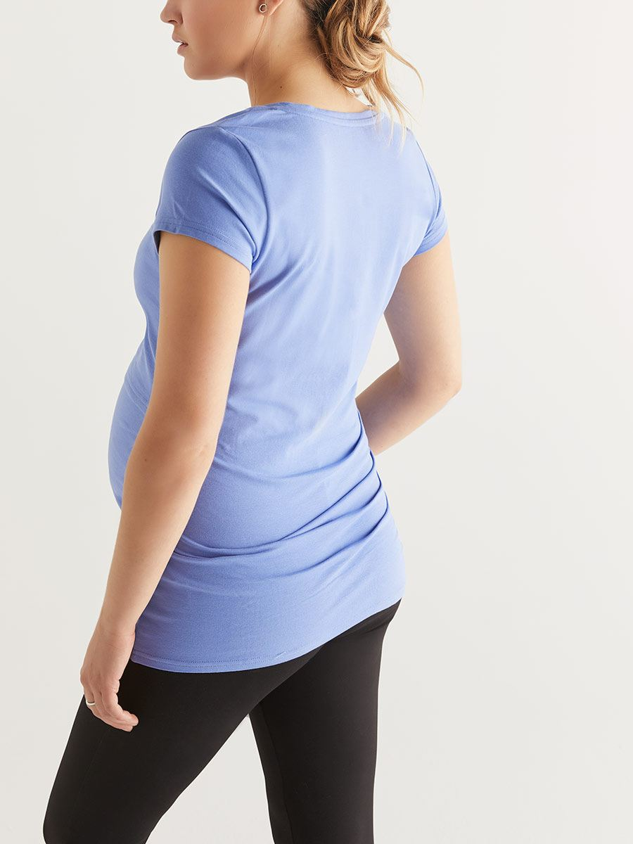 Cotton Short Sleeve Nursing T-Shirt