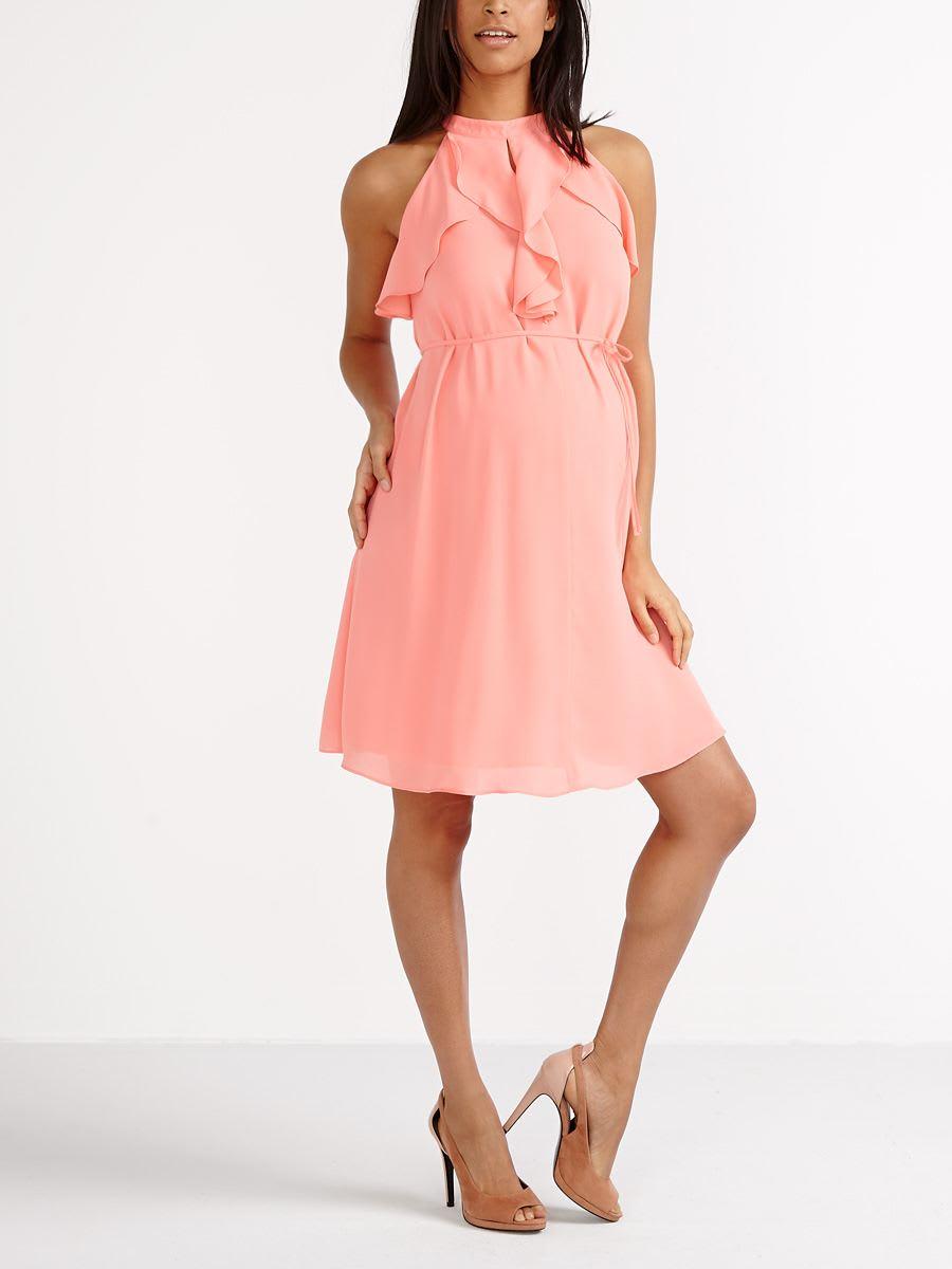 f1347a5f518 Stork   Babe - Sleeveless Ruffled Maternity Dress