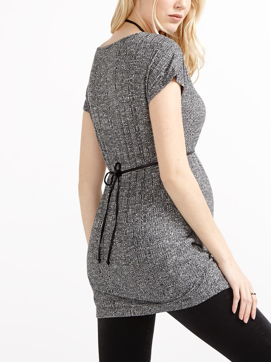 3bd93dde9deef Stork & Babe - Cap Sleeve Ribbed Maternity Tunic | Thyme Maternity