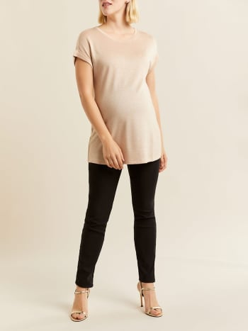 Stork & Babe - Shiny Short Sleeve Maternity Top