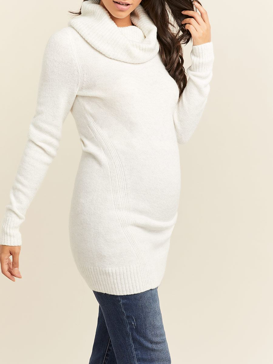 Long Sleeve Cowl Neck Maternity Sweater