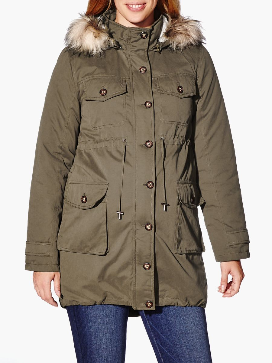 06cae02fa1613 Hooded Maternity Parka Coat | Thyme Maternity
