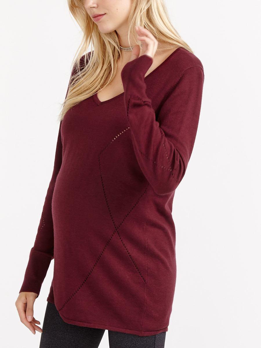 ea9454cf2951a Stork   Babe - Argyle Pattern Maternity Sweater