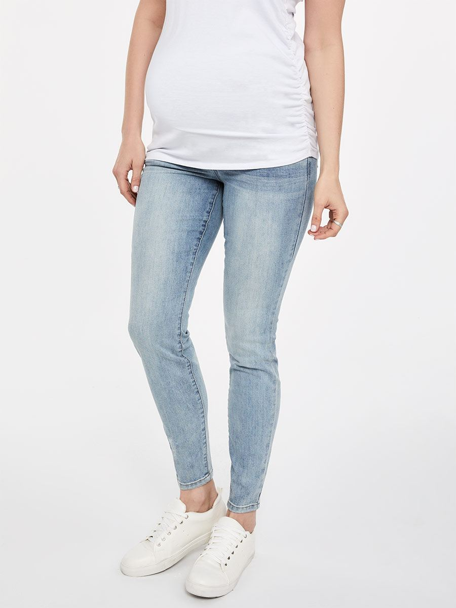Light Blue Super Skinny Maternity Jean
