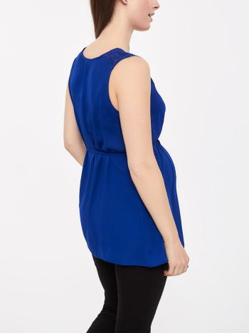 Stork & Babe - Sleeveless Maternity Blouse with Lace